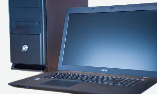 Computer Hard- und Software, PC und Laptop